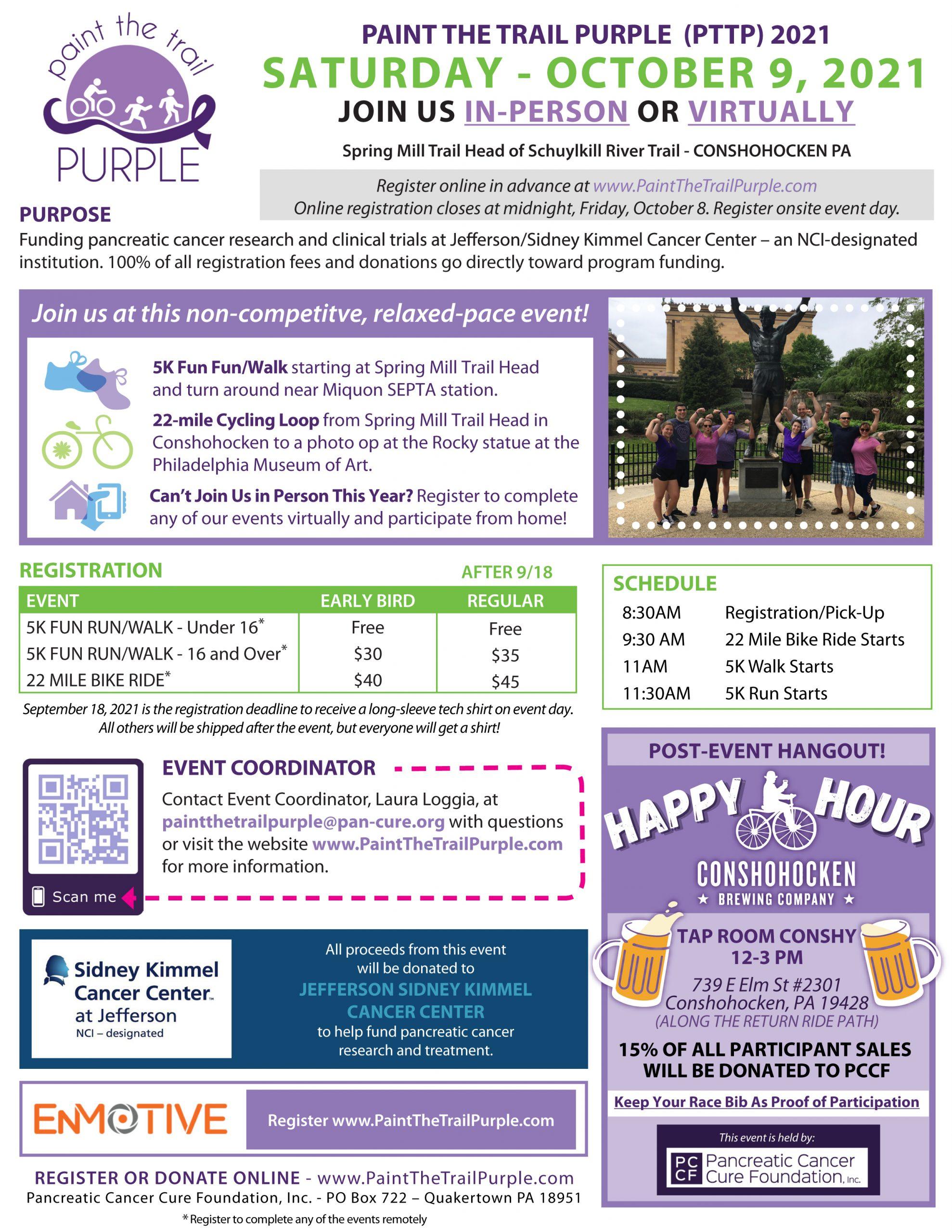 PTTP RaceApp - Event Info Sheet